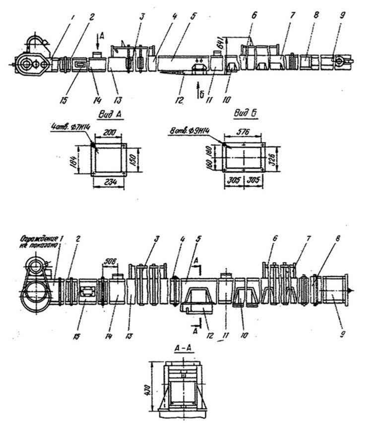 Конвейеры цепные мучные КЦМ-12